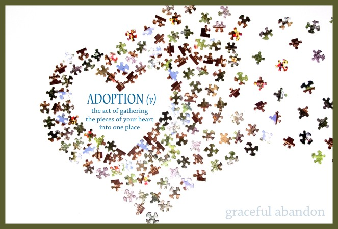 puzzle-fundraiser-definition-of-adoption-framed
